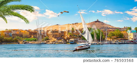 Panorama of Aswan 76503568