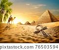 Ankh in desert 76503594