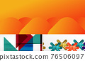 Set of vector geometric abstract backgrounds 76506097