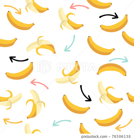Bananas fruit with arrow seamless pattern background 76506138