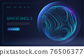 Sphere shield protect in abstract style. Virus protection bubble. Blue abstract antiviral futuristic technology background. 3d blue energy ball barrier illustration. 76506377