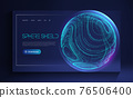Sphere shield protect in abstract style. Virus protection bubble. Blue abstract antiviral futuristic technology background. 3d blue energy ball barrier illustration. 76506400