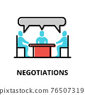 Negotiations icon concept, politics collection 76507319