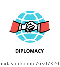 Diplomacy icon concept, politics collection 76507320