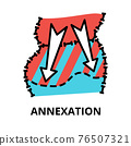 Annexation icon concept, politics collection 76507321