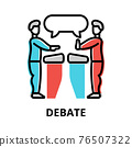 Debate icon concept, politics collection 76507322