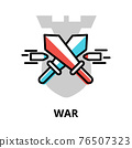 War icon concept, politics collection 76507323