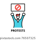 Protests icon concept, politics collection 76507325
