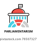 Parliamentarism icon concept, politics collection 76507327