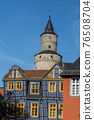 Leaning House and Witches Tower in Idstein, Taunus, Hesse, Germany 76508704