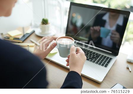 Coffee break concept 76515229