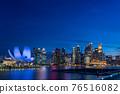 marina bay, singapore, night scape 76516082
