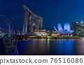 marina bay, singapore, night scape 76516086