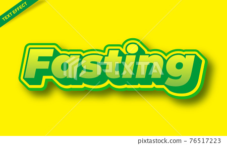 green and yellow text effects 76517223