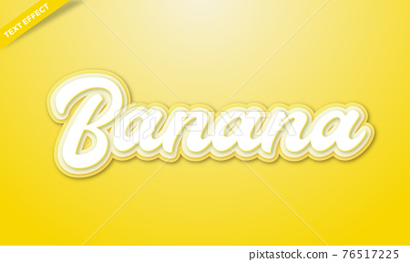 yellow text effects design template 76517225