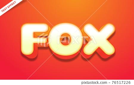 orange bold 3d text effect 76517226