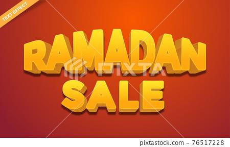 Ramadan shine text effect design 76517228