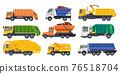 Dump trucks, loaders or dumpers and haul lorries 76518704