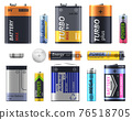 Battery types set, AA and AA sizes and models 76518705