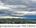 Scenery view of sity in the park on cloudy sky background 76519042
