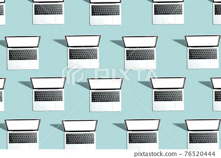 Many Laptop computers with shadow 76520444