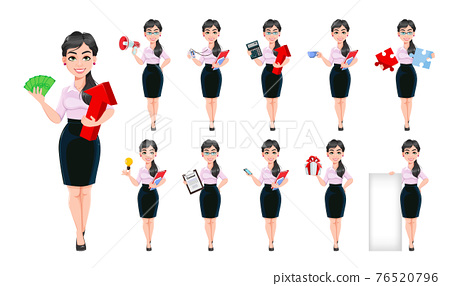 Successful business woman cartoon character 76520796