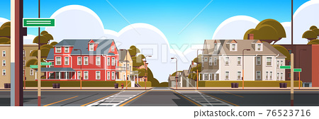 city facade buildings empty no people urban street real estate cute town exterior 76523716