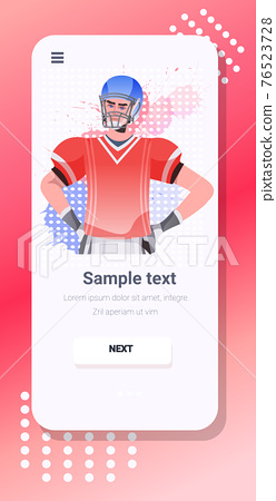 american football player happy labor day celebration self isolation online communication concept 76523728