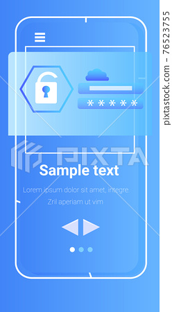 mobile app protection shield data privacy security concept 76523755