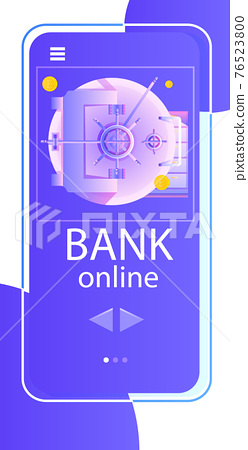 internet banking mobile app high level payment security money storage concept vertical 76523800