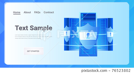database server protection big data privacy security concept horizontal copy space 76523802