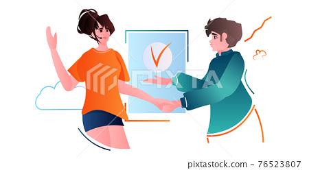 people shaking hands together business partners handshake partnership teamwork concept portrait 76523807