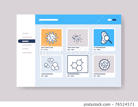 infographic template for medical presentation medicine healthcare concept online web page interface 76524571