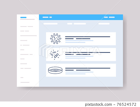 infographic template for medical presentation medicine healthcare concept online web page interface 76524572