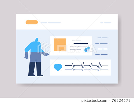 infographic template for medical presentation medicine healthcare concept online web page interface 76524575