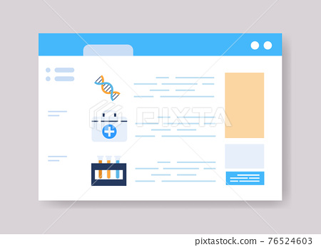 infographic template for medical presentation medicine healthcare concept online web page interface 76524603