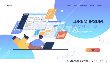 businessman analyzing data on virtual boards analysis process digital marketing planning company strategy 76524605
