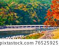 秋葉季節京都嵐山,秋山和月月橋 76525925