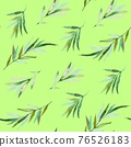 Seamless pattern with olive branches and olives. Watercolor hand drawing 76526183