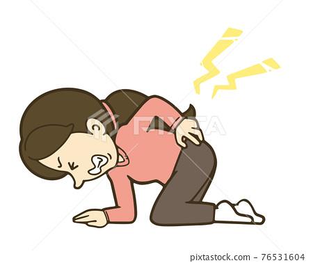 腰痛 背痛 下背疼痛 76531604
