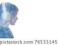 music lover silhouette kid portrait tranquility 76533145