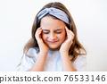 kid migraine tension headache suffering girl pain 76533146