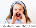 yelling child portrait attention seeking mad girl 76533149