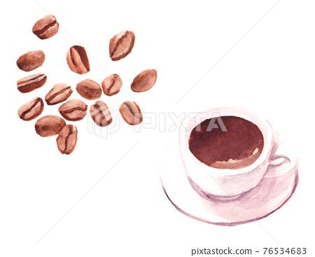 coffee bean, coffee, bean 76534683