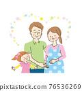 임산부에 깃들 남편과 미소의 소녀 76536269