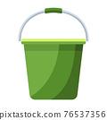 Cartoon vector illustration housework equipment tool green bucket 76537356