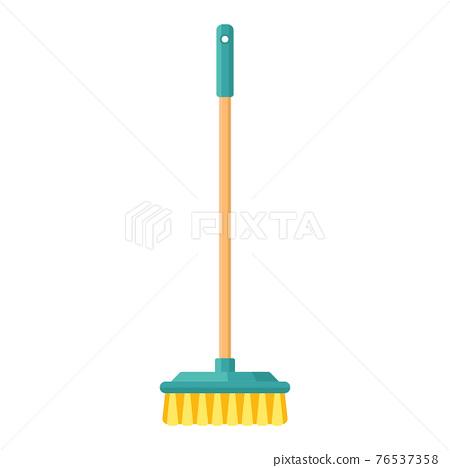 Cartoon vector illustration housework equipment tool broomstick 76537358