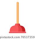 Cartoon vector illustration housework equipment tool toilet dredge 76537359