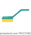 Cartoon vector illustration housework equipment tool brush 76537360