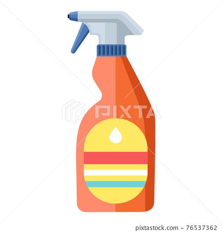 Cartoon vector illustration housework equipment tool spray bottle 76537362